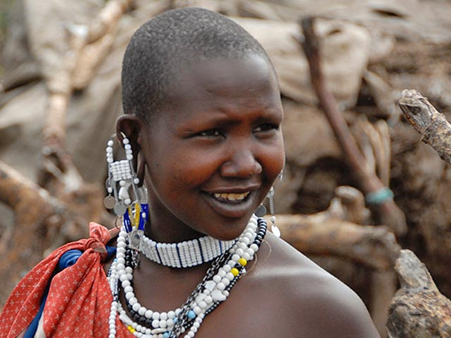 Young woman in Africa