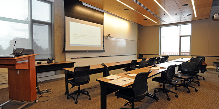Meeting room in the Allen Center