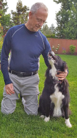 Dr. Nottingham with a Border Collie