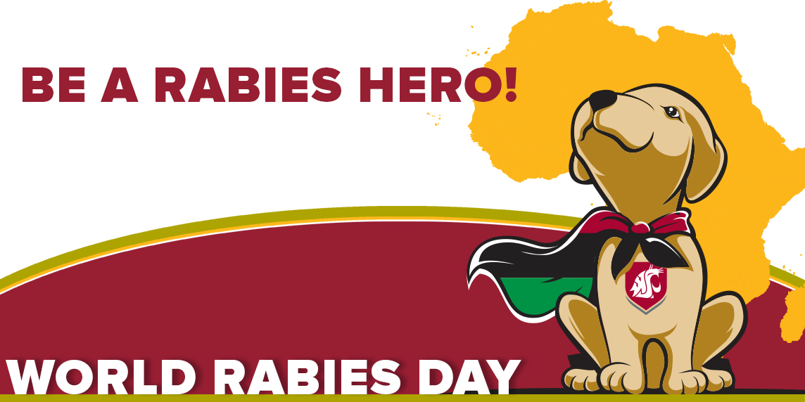 Chanjo the dog says be a Rabies Hero