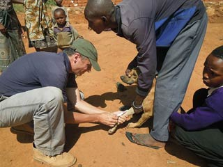 Administering Rabies Vaccine in Africa