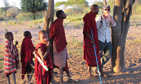 Mark Caudell with the Masai